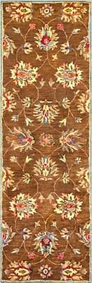 Charlton Home Blarwood Coffee Allover Kashan Rug; Rectangle 5' x 8'