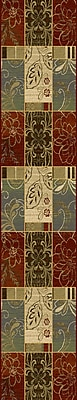 Charlton Home Attamore Red Panes Area Rug; Rectangle 7'7'' x 10'10''