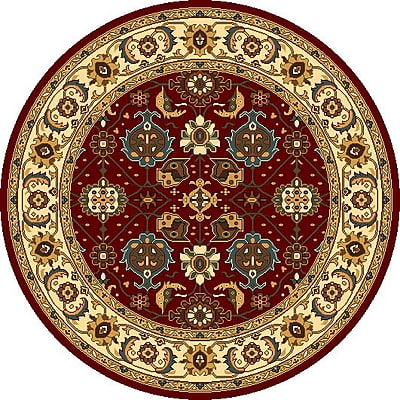 Charlton Home Vandergrift Red & Ivory Mahal Area Rug; Rectangle 9'3'' x 13'2''