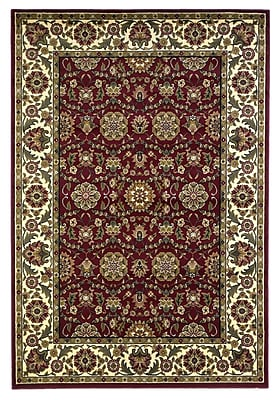 Charlton Home Bellville Red / Ivory Floral Area Rug; Rectangle 2'3'' x 3'3''