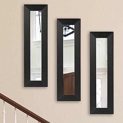 Corrigan Studio Carbon Fiber Panel Mirror (Set of 3); 32.5'' H x 11.5'' W x 0.75'' D