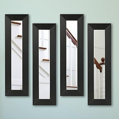 Corrigan Studio Carbon Fiber Panel Mirror (Set of 4); 29.5'' H x 11.5'' W x 0.75'' D