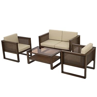 Corrigan Studio Valmonte 4 Piece Deep Seating Group w/ Cushions