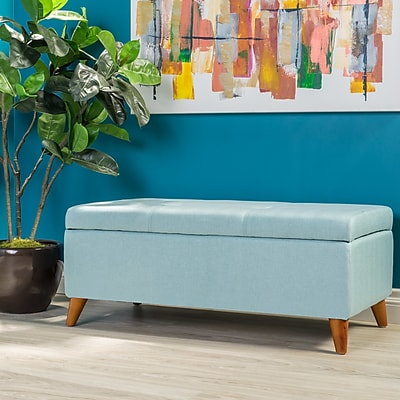 Corrigan Studio Goldwin Storage Ottoman; Light Blue