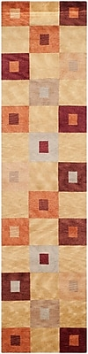 Corrigan Studio Juno Hand-Knotted Champagne Area Rug
