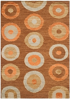 Corrigan Studio San Buenaventura Hand-Knotted Chocolate Area Rug; Rectangle 8' x 10'
