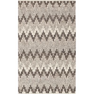 Corrigan Studio Rekker Hand-Woven Medium Gray Area Rug; 2' x 3'