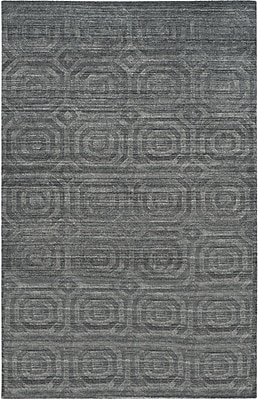 Corrigan Studio Arena Dark Gray Area Rug; Rectangle 6' x 9'