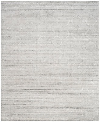 Corrigan Studio Arena Light Gray Area Rug; 8' x 10'