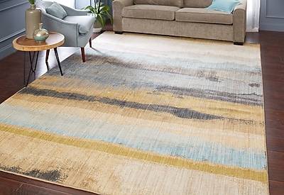 Corrigan Studio Evansville Golden Mustard Area Rug; Rectangle 5'3'' x 7'10''