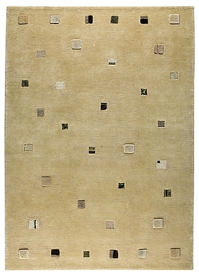 M.A. Trading Colombia Hand-Knotted Cafe Latte Area Rug; 8'3'' x 11'6''