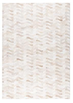 M.A. Trading Algedi Hand woven White Area Rug; 9' x 12'