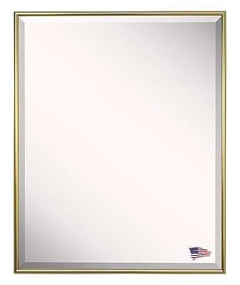 Darby Home Co Rectangle Gold Metal Wall Mirror; 33'' H x 27'' W x 0.19'' D