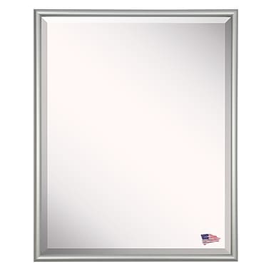 Darby Home Co Satin Metal Framed Wall Mirror; 27'' H x 21'' W x 0.19'' D