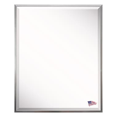 Darby Home Co Rectangle Sheeny Silver Framed Wall Mirror; 30'' H x 18'' W x 0.19'' D