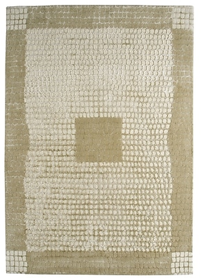 M.A. Trading Marrakesh Hand-Tufted Caramel/White Area Rug; 6'6'' x 9'9''