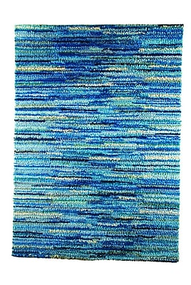 M.A. Trading Mat Mix Hand-Woven Blue Area Rug; 4'6'' x 6'6''
