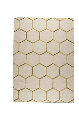 M.A. Trading Khema 2 Hand-Woven Green/Gold Area Rug; 5'6'' x 7'10''