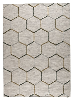 M.A. Trading Khema 2 Hand-Woven Gray Area Rug; 5'6'' x 7'10''