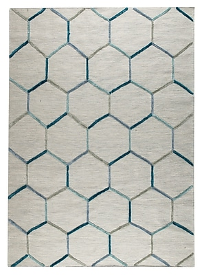 M.A. Trading Khema 2 Hand-Woven Turquoise Area Rug; 8'3'' x 11'6''