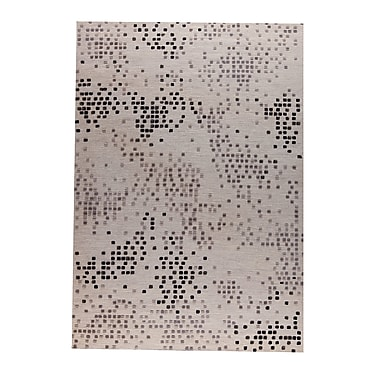 M.A. Trading Bee Hand-Woven Beige/Gray Area Rug; 5' x 8'