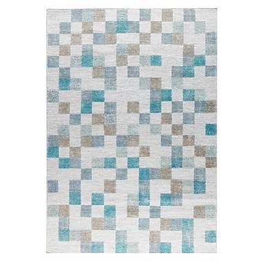 M.A. Trading Kista Hand-Woven Aqua/Brown Area Rug; 2' x 3'