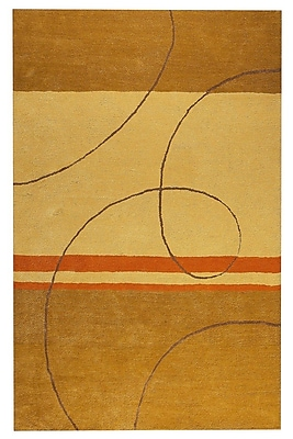 M.A. Trading Trenza Hand-Tufted Gold/Beige Area Rug; 5' x 7'