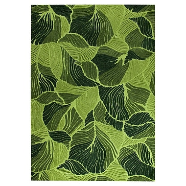 M.A. Trading Oasis Hand-Tufted Green Area Rug; 5'2'' x 7'6''