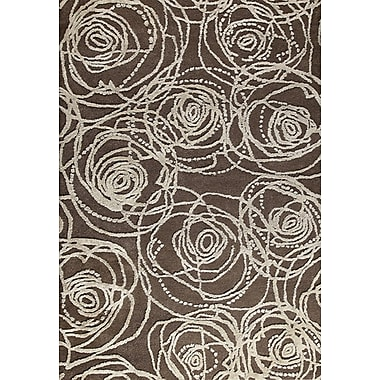 M.A. Trading Rosa Hand-Tufted Brown/Gray Area Rug; 7'10'' x 9'10''