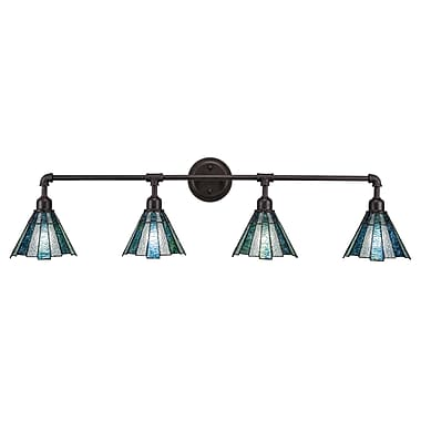 Toltec Lighting 4-Light Vanity Light; Dark Granite