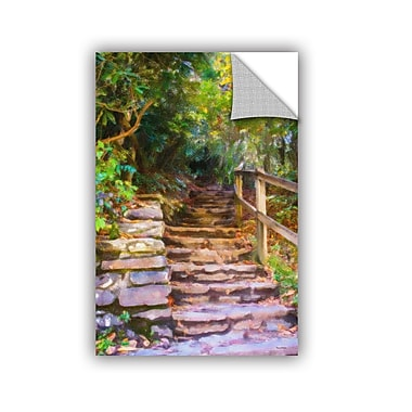 Charlton Home Redkey Rocky Steps Wall Mural; 24'' H x 16'' W x 0.1'' D