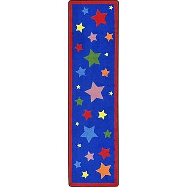 Joy Carpets Reading Superstars Blue Area Rug; Runner 2'1'' x 7'8''
