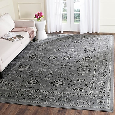 Alcott Hill Bainsby Dark Gray / Light Gray Area Rug; Rectangle 4' x 5'7''