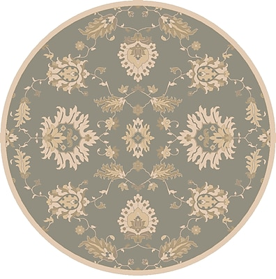 Astoria Grand Kempinski Hand-Tufted Blue/Beige Area Rug; Round 9'9''