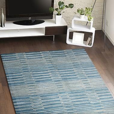 Brayden Studio Dolores Rug in Blue; Rectangle 3'6'' x 5'6''