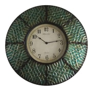 World Menagerie 8 Paneled Clock; Teal