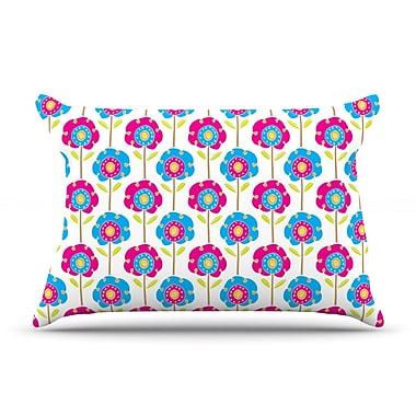 East Urban Home Lolly Flowers by Apple Kaur Designs Cotton Pillow Sham