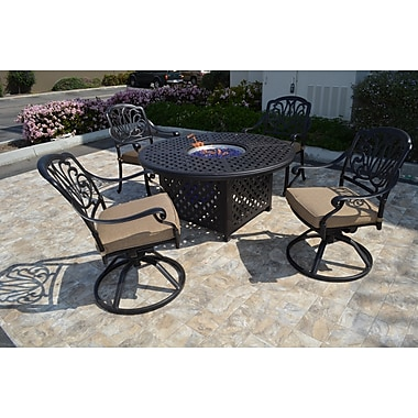 Darby Home Co Kristy 5 Piece Rocker Seating Group w/ Cushion