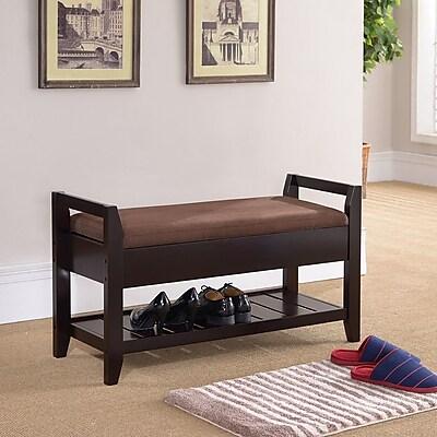Rebrilliant Wooden Storage Bench
