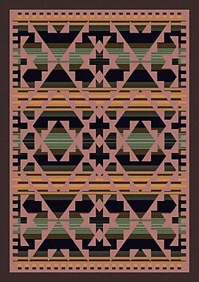 American Dakota Johnny D Saddle Blanket Periwinkle Area Rug; Rectangle 3' x 4'