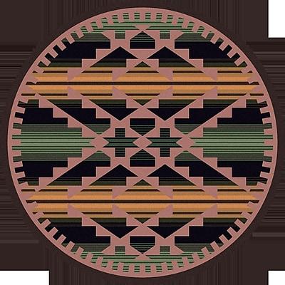 American Dakota Johnny D Saddle Blanket Periwinkle Area Rug; Round 8'