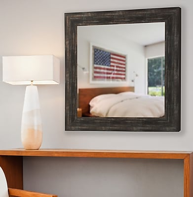 August Grove Darien Square Wall Mirror; 35.5'' H x 35.5'' W x 0.75'' D