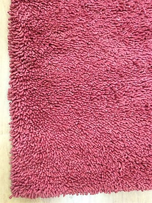 Eastern Weavers Shag Eyeball Woolen Hand Knotted Claret Wine Red Area Rug; Rectangle 8' x 10'