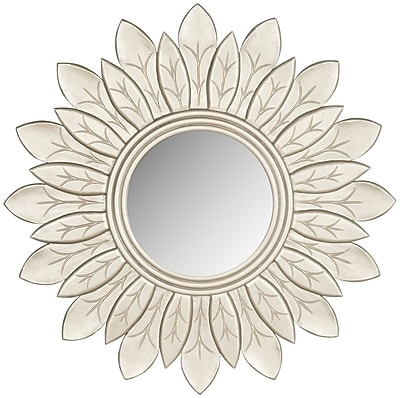 Darby Home Co Sun Wood Mirror I; Pewter