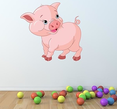 Style and Apply Cute Piglet Wall Decal; 15'' H x 16'' W