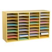 Adiroffice Wood Yellow Adjustable 36 Compartment Literature Organizer (500 36 YEL) by
