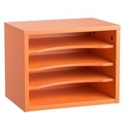 "Adiroffice Orange Wood Desk Workspace Organizers, 11"" X 14"" X 9.8"" (502-01-ORG)"