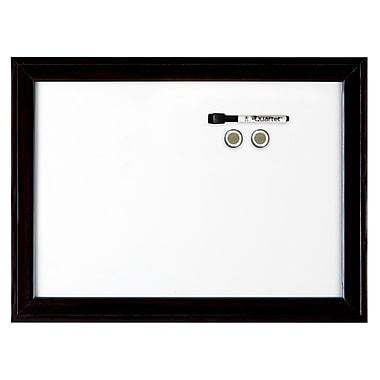 Quartet® – Tableau aimanté à effacement sec Espresso™ de décor intérieur, 17 po x 23 po (6447403831)