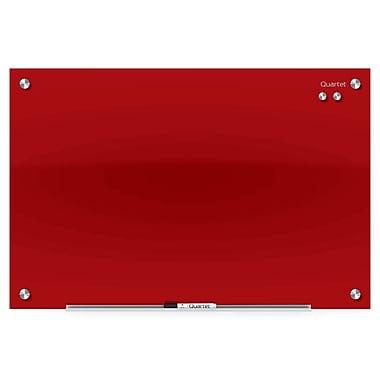 Quartet® – Tableau à marqueurs Infinity™ en verre magnétique, 24 po x 18 po, rouge (3413879730)