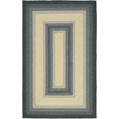 August Grove Georgina Black/Grey Area Rug; Square 8'